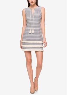 Jessica Simpson Tassel-Tie Woven Fringe Dress