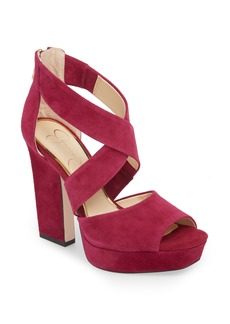 Jessica Simpson Tehya Cross Strap Platform Sandal (Women)