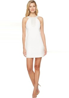Jessica Simpson Textured Dress with Neck Embellishment