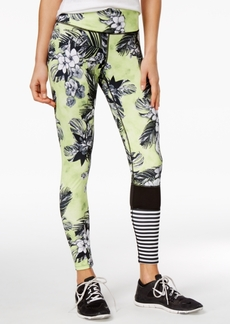 Jessica Simpson The Warm Up Juniors' Floral-Print Colorblocked Leggings