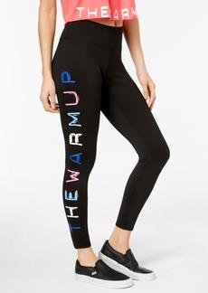 Jessica Simpson The Warm Up Juniors' Logo Yoga Leggings