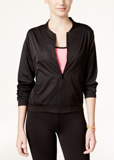 Jessica Simpson The Warm Up Juniors' Mesh-Back Bomber Jacket