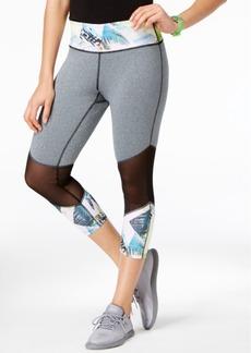 Jessica Simpson The Warm Up Juniors' Mesh-Inset Leggings