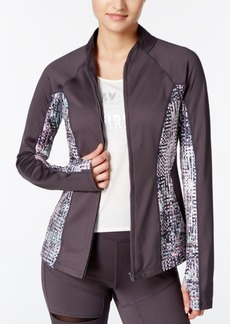 Jessica Simpson The Warm Up Juniors' Mesh-Inset Track Jacket