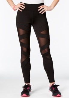 Jessica Simpson The Warm Up Juniors' Mesh-Inset Yoga Leggings