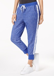 Jessica Simpson The Warm Up Logo Cropped Jogger Pants, Created for Macy's