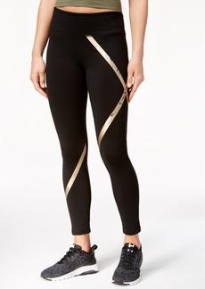 Jessica Simpson The Warm Up Metallic-Stripe Leggings