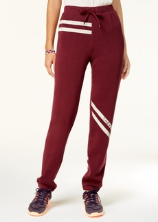 Jessica Simpson The Warm Up Striped Logo Sweatpants