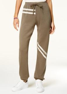 Jessica Simpson The Warm Up Striped Logo Sweatpants
