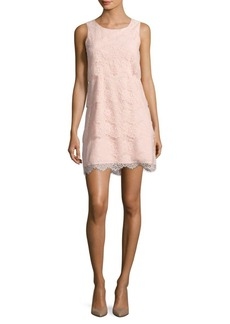Jessica Simpson Tiered Lace Cocktail Dress
