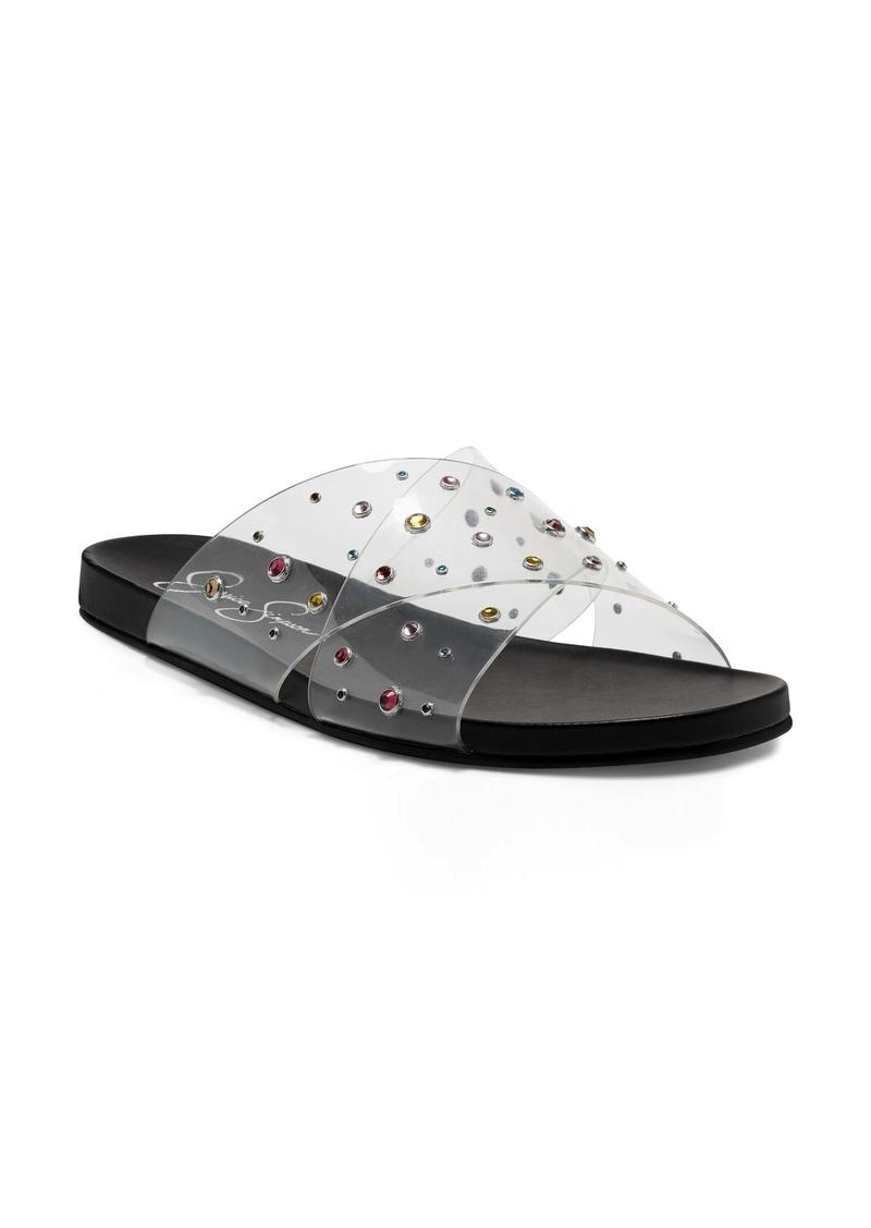 Jessica Simpson Tislie Clear Slide Sandal (Women)