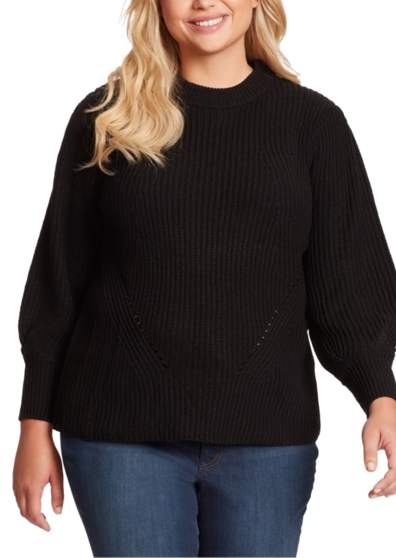 Jessica Simpson Trendy Plus Size Addison Puff-Sleeve Sweater