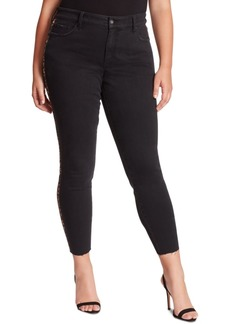 Jessica Simpson Trendy Plus Size Adored Side-Stripe High-Rise Skinny Ankle Jeans
