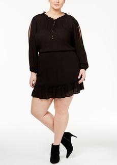 Jessica Simpson Trendy Plus Size Beaded Peasant Dress