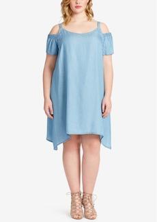 Jessica Simpson Trendy Plus Size Cold-Shoulder Dress