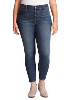 Jessica Simpson Trendy Plus Size Curvy High-Rise Skinny Jeans