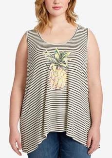 Jessica Simpson Trendy Plus Size Endless Summer Graphic Tank Top