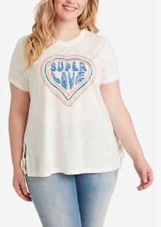 Jessica Simpson Trendy Plus Size Eunice Printed T-Shirt