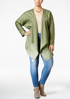 Jessica Simpson Trendy Plus Size Finn Embroidered Twill Jacket