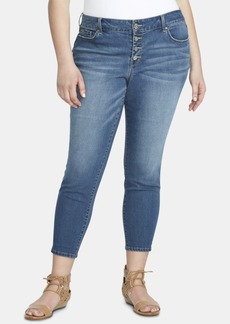 Jessica Simpson Trendy Plus Size Forever Slim Ankle Jeans