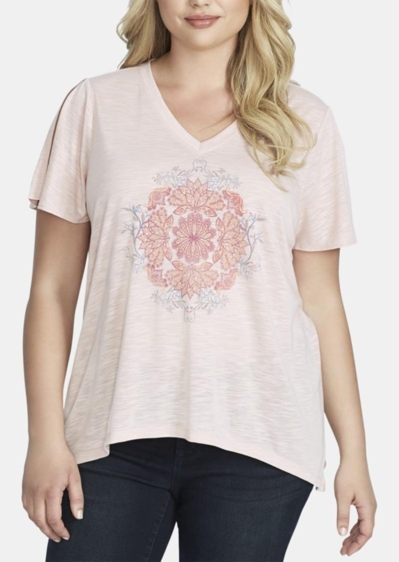 Jessica Simpson Trendy Plus Size Graphic T-Shirt