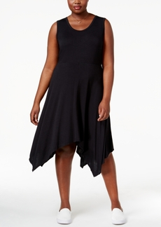 Jessica Simpson Trendy Plus Size Handkerchief-Hem Dress