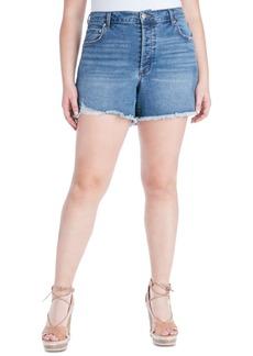 Jessica Simpson Trendy Plus Size Infinite High-Waist Denim Shorts