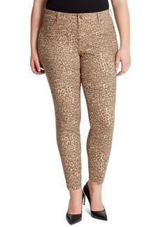 Jessica Simpson Trendy Plus Size Kiss Me Animal-Print Super Skinny Jeans
