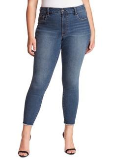 Jessica Simpson Trendy Plus Size Kiss Me Skinny Ankle Jeans