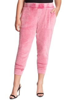 Jessica Simpson Trendy Plus Size Ryland Snow-Washed Ankle Jeggings