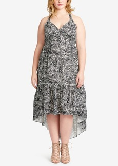 Jessica Simpson Trendy Plus Size Tiered High-Low Dress