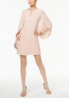 Jessica Simpson Tulip-Sleeve Keyhole Shift Dress