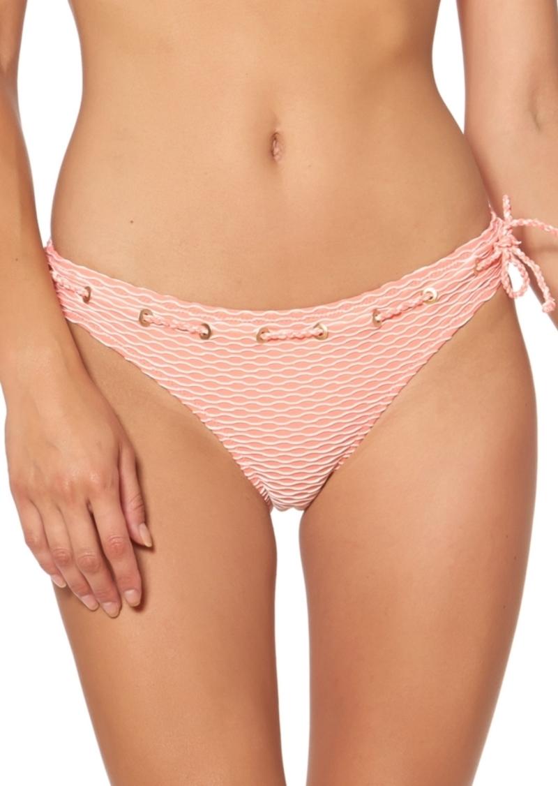 Jessica Simpson Twiggy Stripe Textured Hipster Bottoms Women's Swimsuit