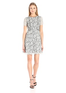 Jessica Simpson Women's 2tone Floral Lace Fit and Flare