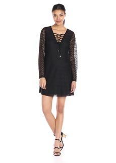 Jessica Simpson Women's 3/4 Sleeve Lace Shift Dress