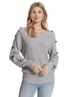Jessica Simpson Women's Plus Size Adley Elegant Boat Neck Sweater