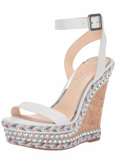 Jessica Simpson Women's ALINDA Wedge Sandal   M US