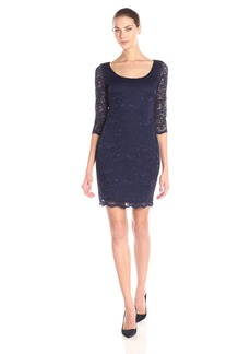 Jessica Simpson Women's All Over Scalloped Lace Dress