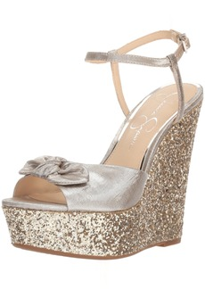 Jessica Simpson Women's Amella Wedge Sandal  6.5 Medium US