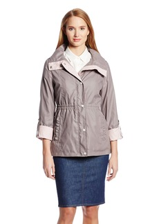 Jessica Simpson Women's Anorak with Contrast Trim