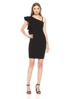 Jessica Simpson Women's Asymmetrical Ruffle Dress