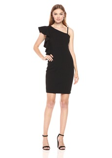 Jessica Simpson Women's Asymmetrical Ruffle Dress