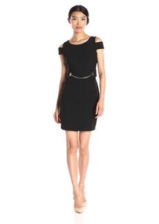 Jessica Simpson Women's Bandage Cold Shoulder Knit Dress
