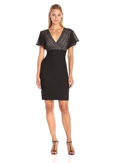 Jessica Simpson Women's Bandage Knit Lace Combo Dress