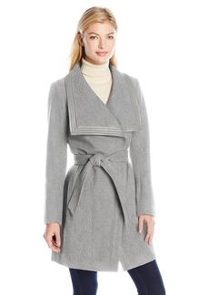 Jessica Simpson Women's Basketweave Wrap Coat  L