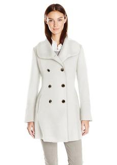 Jessica Simpson Women's Bell Sleeve Basketweave Wool Coat  XS
