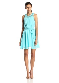 Jessica Simpson Women's Blouson Ruffle Dress