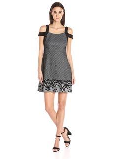 Jessica Simpson Women's Bonded Lace Cold Shoulder Dress