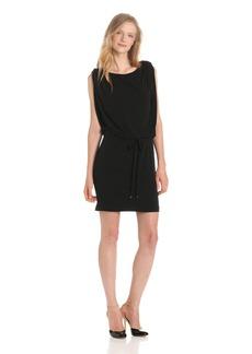 Jessica Simpson Women's Button Shoulder Blouson Dress