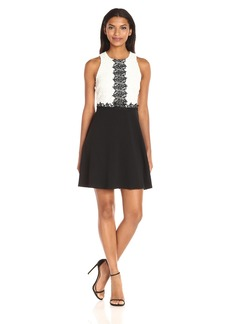 Jessica Simpson Women's Chemical Lace Fit and Flare Dress